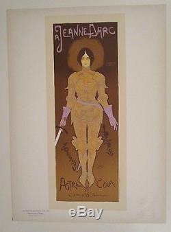 Maitres de l'affiche pl 130 DE 1898 JEANNE D'ARC GEORGE DE FEURE CARCASSONNE