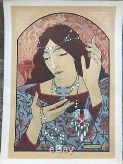 Marcel Lenoir Invocation A La Madone D'onyx Vert Litho L'estampe Moderne 1897