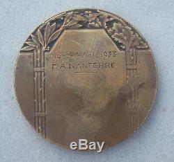 Médaille Ancienne Art Deco Le Plus Fort L'intransigeant Cassandre 1933