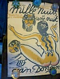 Mille nuits (et une nuit) authentique affiche ancienne NRF par VanDongen 1955