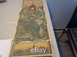 Mucha original affichette publicité bénédictine époque 1900