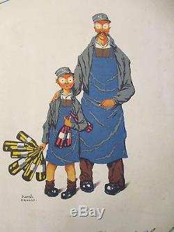 NECTAR et GLOUGLOU d'aprés DRANSY, Poyet Freres 1932, 4 pages 23 x 29cm, OriginaL
