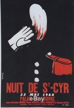 NUIT DE ST-CYR 25 MAI 1960 Affiche originale entoilée JM FLEJO (Claude LUTER)