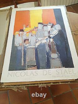 Nicolas De Stael Les Musiciens 1953 Affiche 100 X 70 CM