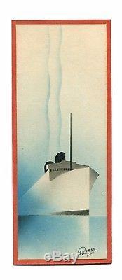 Old Poster Normandie L'atlantique Autour De Cassandre Signed