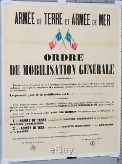Ordre De Mobilisation Generale 02 Aout 1914 Wwi Propaganda