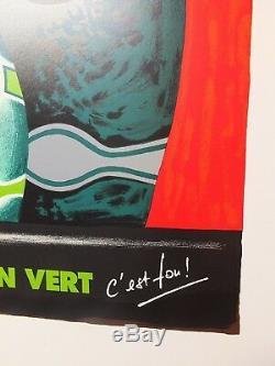 PERRIER Affiche rare de B. VILLEMOT pour Perrier Zeste c'est fou