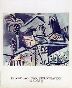 PICASSO (AVIGNON PROLONGATION 1973) Affiche originale entoilée Litho MOURLOT