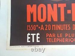 PLM Aix les Bains Revard Affiche ancienne/original poster Henry Reb 1935