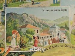 PLM Ancienne Affiche publicitaire Ville de CHATEL-GUYON LES BAINS