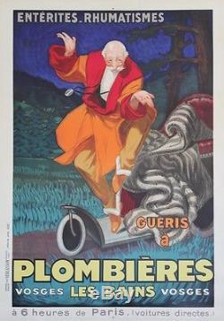 PLOMBIERES LES BAINS Affiche originale entoilée Litho Jean d'YLEN 1931