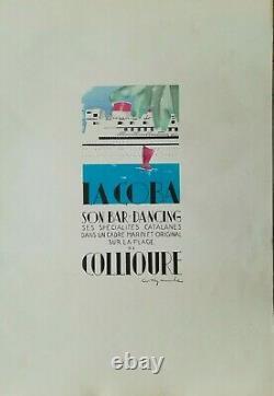 PUBLICITE LA COBA BAR DANCING SON COLLIOURE Willy MUCHA