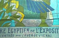 P. A. Laurens Affiche Ramsès Théâtre Égyptien Exposition Universelle 1900