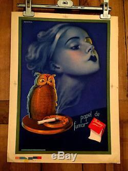 Papel de Fumar Smoking Affiche publicitaire par Martra cigarettes tabac