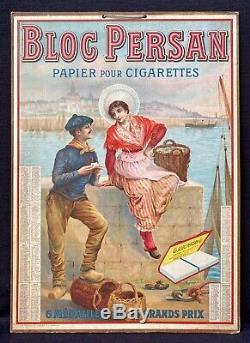 Papier Cigarettes Bloc Persan Panonceau lithographié Marins de Boulogne-sur-Mer