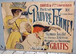 Paul Balluriau Partie Haute De L'affiche Ancienne Du Livre De Pauvre Femme