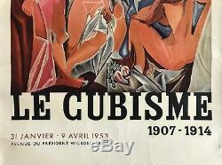 Picasso Affiche Lithographie Le Cubisme 1953 Les Demoiselles Davignon Mourlot