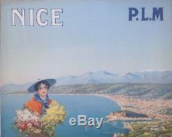 Pierre Comba Grande Affiche Litho Originale Nice Plm / Original Print Nice Plm