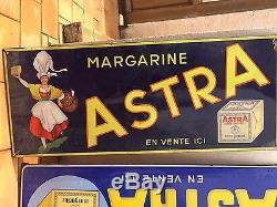 Plaque émaillée publicité margarine Astra