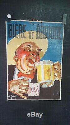 Plv Biere De Brioude (43) Annees 1930 Marrante Signee Ok Gerard