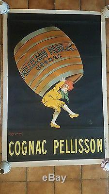 RARE AFFICHE ORIGINALE COGNAC PELLISSON CAPPIELLO 1909 80 cm X 120 cm