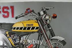 RARE AFFICHE POSTER YAMAHA FS1 CUTAWAY SS50 moped 49cc 1970 mini moto pocketbike