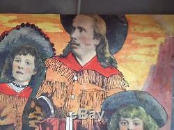 Rare Affiche S F Cody & Family Buffalo Bill