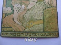 RARE Affiche ancienne PAUL BERTHON Art Nouveau SAINTE -MARIE-DES-FLEURS