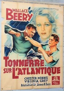 ROGER SOUBIE AFFICHE FILM TONNERRE SUR L ATLANTIQUE WALLACE BERRY ci 1939