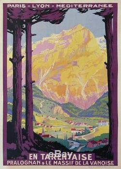 R. Soubie En Tarentaise Pralognan Massif De La Vanoise Train Chemin De Fer Plm