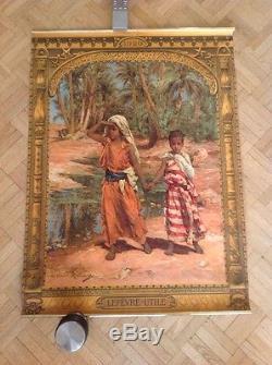 Rare Affiche Poster Lefevre Utile Orientalisme Lucus Robiquet Colomb Bechar 1920