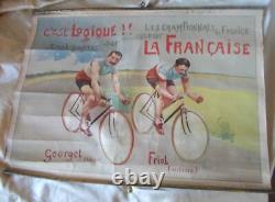 Rare Affiche Pub Ancienne Cycle La Francaise Diamant 60 CM X 44 CM