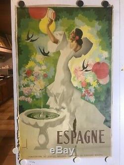 Rare Affiche ancienne tourisme Espagne par Morell 1941