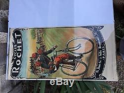 Rare Affichette Cycle Rochet 1910