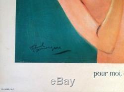 Rare Carton Publicitaire 1955 Boisson Pschitt Illustre Par Jean-gabriel Domergue