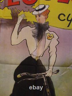 Rare affiche Cycles peugeot charles lucas 1898 art nouveau