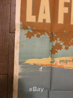 Rare affiche Fanqui plage AUDE AFFICHE LITHOGRAPHIQUE chemin de fer du Midi