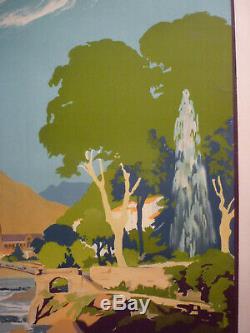 Rare affiche PLM Vals les Bains par Lacaze 1930 entoilée