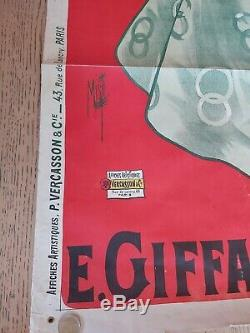 Rare ancienne affiche publicitaire liqueur menthe pastille plaque émaillée