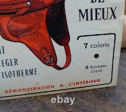 Rare carton publicitaire casque moto ANGENIEUX