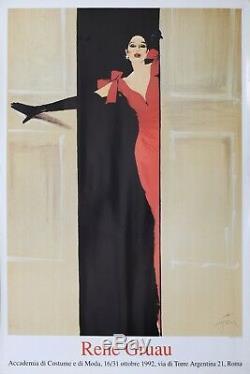 Rene Gruau 1992 Affiche Exposition Rome 90x63cm