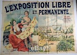 René Péan Affiche original de l'Exposition Universelle 1900 Atelier Chéret