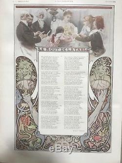 Revue LILLUSTRATION Alphonse Mucha Noël 1896 Affiche Art Nouveau Complet
