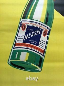 Robert FALCUCCI 1900-89 Affiche Régie Communale Sources Nessel Soultzmatt Alsace