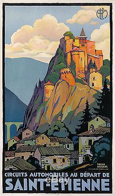 roger broders affiche ancienne plm saint etienne village de cornillon ci 1925. Black Bedroom Furniture Sets. Home Design Ideas