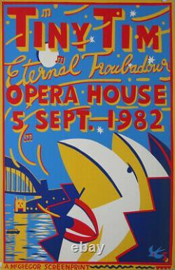 SHARP MARTIN Tiny Tim 1982 Opera House sydney affiche 101x 6 cm etat B+