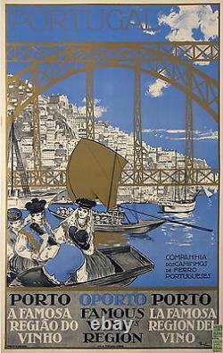 SOUZA AFFICHE ANCIENNE PORTUGUESES PORTUGAL PORTO Ci 1930