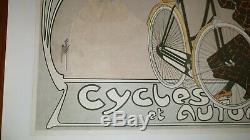 SUPERBE AFFICHE ANCIENNE ORIGINALE VELO ANCIEN CYCLES CLEMENT par MISTI