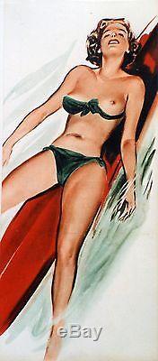 SURFEUSE Affiche origin. Entoilée (supplément PARIS-HOLLYWOOD par BRENOT 1951)