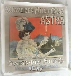 Schweizer-Milch-Cacao ASTRA / Chocolat lait Suisse / circa 1900 / Très rare